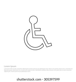 Disable icon. Vector Illustration. Flat pictogram icon