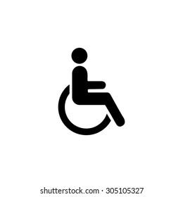 Disabled. Black simple vector icon