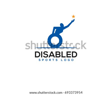 Achievement Logo disabled disability sport achievement logo stock vector (royalty