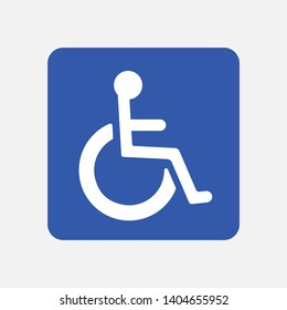 Disabled Handicap Icon . Invalid symbol . Vector illustration