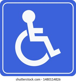 Disabled Handicap Icon . Invalid symbol