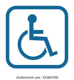 Disabled Handicap Icon . Invalid symbol . Vector illustration