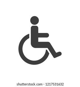 Disabled handicap icon vector
