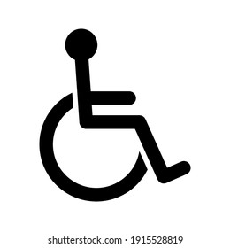 Disabled Handicap icon. vector illustration