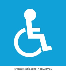 Disabled handicap icon vector illustration. Blue background