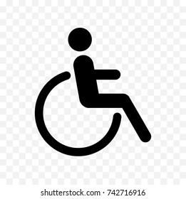 disabled icon, handicapped symbol isolated on transparent background
