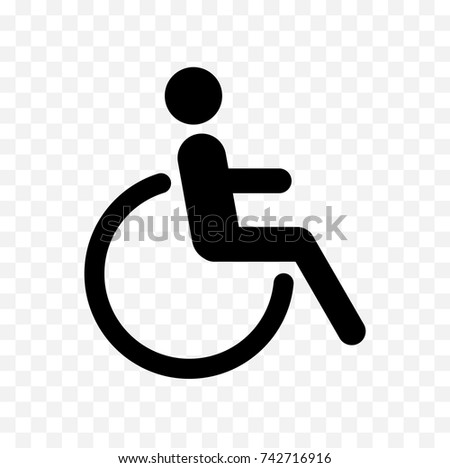Disabled Icon Handicapped Symbol Isolated On Stock Vector Royalty