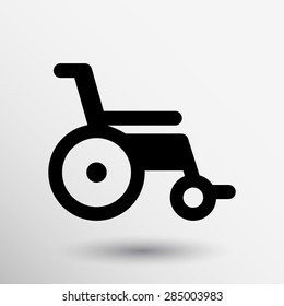 disabled icon sign vector wheelchair handicap symbol.