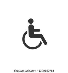 Disabled icon in simple design. Vector illustration