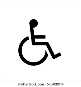 Disabled icon in trendy flat style isolated on background. Disabled icon page symbol for your web site design Disabled icon logo, app, UI. Disabled icon Vector illustration, EPS10.