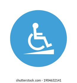 Disabled icon  wheelchair symbol vector illustration