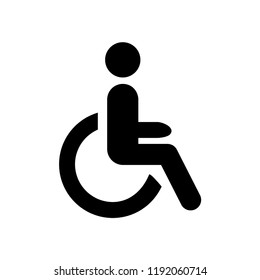 disabled icon, wheelchair vector, eps 10, symbol handicap