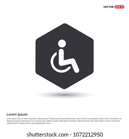 Disabled person icon Hexa White Background icon template