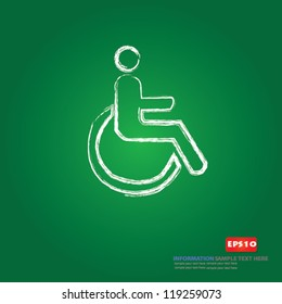 Disabled person sign,Vector