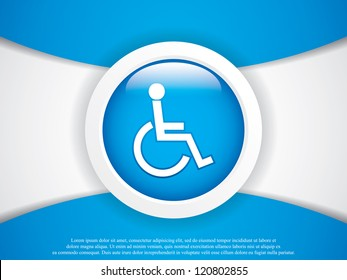 Disabled persons supporting hospital template - medical vector