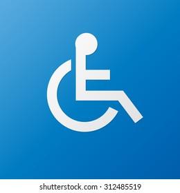 Disabled Sign , Symbol Handicap vector Illustration