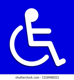 disabled signs square blue colors frame background, sign boards for disability slope path ladder way sign badge for disabled, disabled symbol signs on blue boards template (vector)