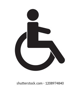 Disabled. Vector icon