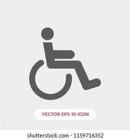 Disabled vector icon, handicap symbol. Linear style sign for mobile concept and web design. disabled symbol logo illustration. vector graphics - Vector.