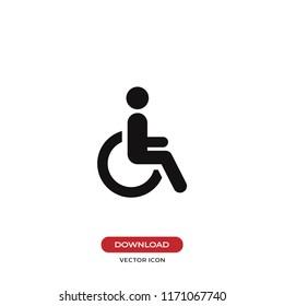 Disabled vector icon. Wheelchair symbol