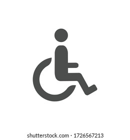 Disabled vector icon. Wheelchair symbol. flat icon illustration on white background.