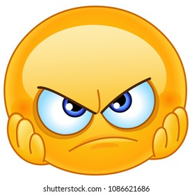 Disappointed emoticon with hands on face