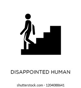 disappointed human icon. disappointed human symbol design from Feelings collection. Simple element vector illustration on white background.