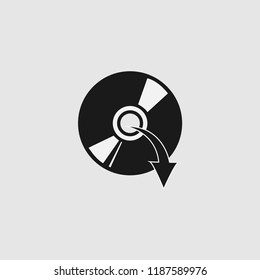 disc ejekt download  illustration vector icon