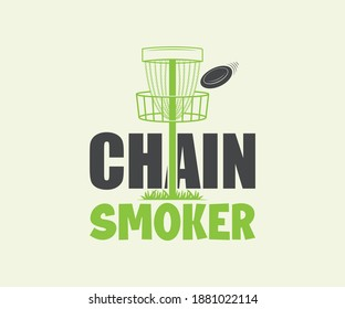 Disc Golf, Chain Smoker Printable Vector