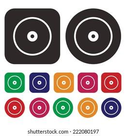 Disc icon. CD. DVD. icon. vector