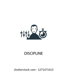 Discipline icon. Simple element illustration. Discipline concept symbol design. Can be used for web and mobile.