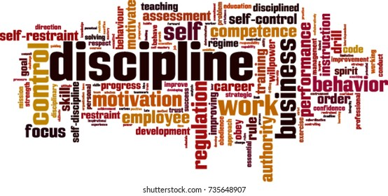Discipline word cloud concept. Vector illustration