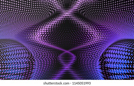 Disco abstract background.  Retro background futuristic landscape 1980s style. Disco ball texture. Spot light rays.