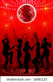 a disco background for block party.