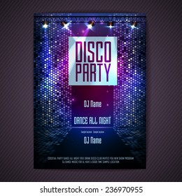 Disco background. Disco poster