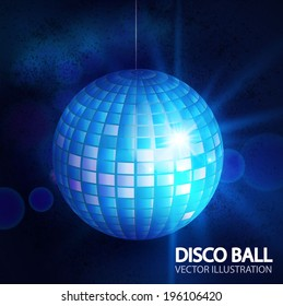 Disco ball background. Vector illustration