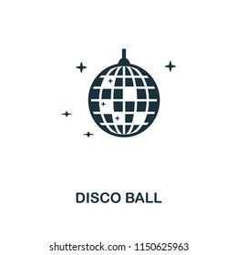 Disco Ball creative icon. Simple element illustration. Disco Ball concept symbol design from party icon collection. Can be used for mobile and web design, apps, software, print.