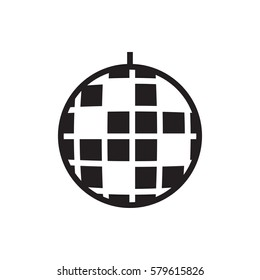 disco ball icon illustration isolated vector sign symbol