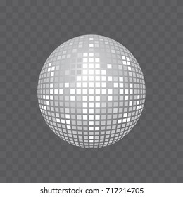 Disco ball icon isolated on background