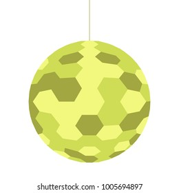 Disco ball icon on a white background, Vector illustration