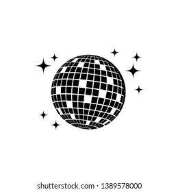 disco ball icon, party decoration, club element