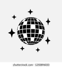 Disco ball icon. Disco sphere party concept symbol design. Stock - Vector illustration can be used for web