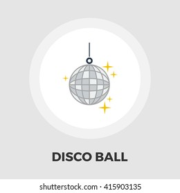 Disco ball icon vector. Flat icon isolated on the white background. Editable EPS file. Vector illustration.