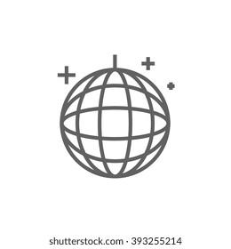 Disco ball line icon.