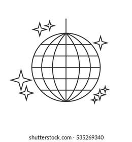 Disco ball line icon