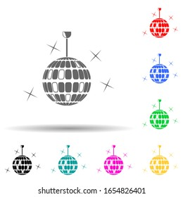 disco ball multi color style icon. Simple glyph, flat vector of party icons for ui and ux, website or mobile application