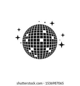 Disco ball vector icon illustration design template