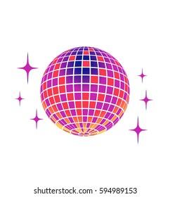 Disco ball Vector Icon Isolated