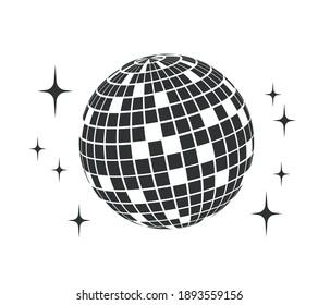 Disco ball. Vector icon. Disco ball. Party element. 80s Disco ball. Party 70s. Party Style Disco ball. DJ.