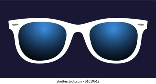 disco glasses with blue lenses